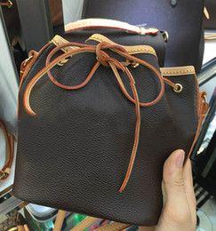 Wholesale Drawstring Dress - Nice Style Fashion Leather Bucket Bags for Women Small Mini Cutout Women Messenger Bag Drawstring 41346