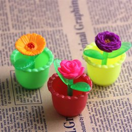 Wholesale foam plant - Novelty Toy Magical Inflated Plant Flower Growing In Water Three Dimensional Fun Color Valentine Day Rose 0 75hq W