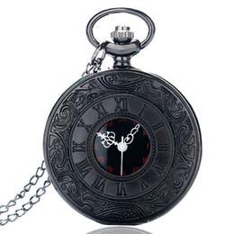 Wholesale Vintage Sale Tags - 2018 New Men Women Watches Classic Vintage Round Roman Numerals Dial Quartz Pocket Watch with Necklace Chain Hot Sale Clock Gift