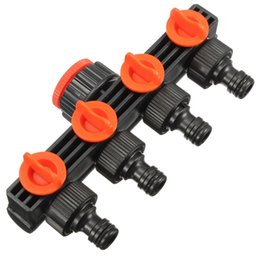 Wholesale Hose Tap Connector - Home Garden Hose Pipe Splitter Plastic Drip Irrigation Water Connector Agricultural 4 Way Tap Connectors