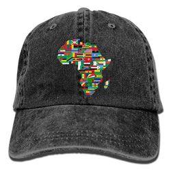 Deutschland 2018 Adult Fashion Baumwolle Denim Baseball Cap Afrika Fahnen Klassische Dad Hut Einstellbare Plain Cap Multi-color optional cheap africa flag Versorgung