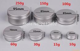 Wholesale thread art - 5g,10g,15 30 60 100 150 200 250 ml Makeup Aluminium Jar Tin Pot Nail Art Lip Empty Cosmetic Containers Screw Thread Cream Storage
