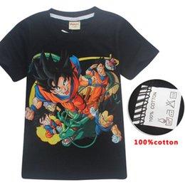 Dragon ball летние топы детская одежда 100% хлопок футболка мультфильм девушки парни футболки детские футболки прикольные футболки 2018 детская одежда от