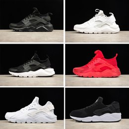 Wholesale White Lace Shoes For Women - New Air Huarache 1.0 4.0 Running Shoes For Men Women triple White Black red Trainers sports sneaker size 36-45