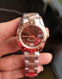 Wholesale rose 31 - Fashion Brand watches 31 mm Datejust 178341 Diamond 18k Rose Goldl Brown Dial Asia 2813 Automatic Mechanical Excellent Women's Watch Wat