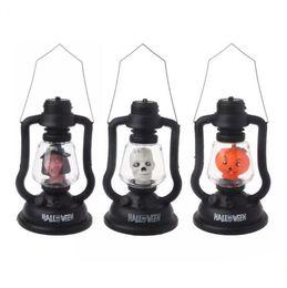 Wholesale Water Lanterns Wedding - LED Colorful Hallowmas Lantern Lamp Portable Hanging Night Light Pumpkin Witch Ghost Skull Light Halloween Gift.