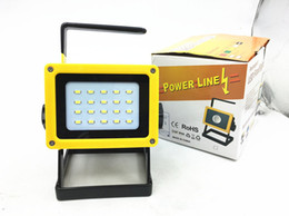 Wholesale Portable Search - 20W High Power 3000Lumens 20 LED Waterproof Rechargeable Flood Led Searching Light Portable Lamp for Emergency,Fishing