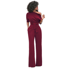 68d7d21cc758 New Fashion Off the Shoulder Elegant Jumpsuits Women Plus Size Rompers  Womens Jumpsuits Short Sleeve Female Overalls
