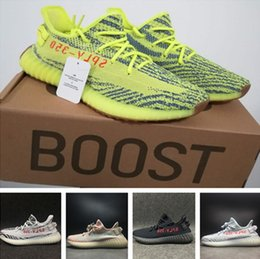 Wholesale Cut Out Mesh - sply 350 Boost 350 V2 Zebra Semi Frozen Yellow Orange Grey Beluga 2.0 blue tint Bred Kanye West Running Shoes free shipping