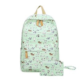 cute korean travel bag Coupons - Fashion School Backpacks for Teenage Girls Canvas Women Laptop Back Pack Female Cute Japan and Korean Style Backpack Travel Bags