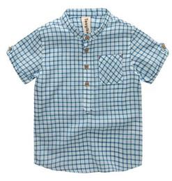 2019 cores escuras camisetas Camisa do Menino do jardim de infância Pequenas Camisas Quadricx ... Pulôver com Design de Bolso Duas Cores Azul Escuro Céu Azul cores escuras camisetas barato