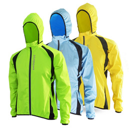 mens jacket xxl Promo Codes - Wholesale- 2017 Breathable Windproof Running Jacket Cycling Raincoat Bicycle Rain Coat Bike Mens Women Cycling Windbreaker Jerseys