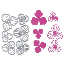 Wholesale Flower Die Cuts - 1 set Metal Steel Flower Frame Cutting Dies Stencil For DIY Scrapbooking Album Paper Card Photo Decorative Craft