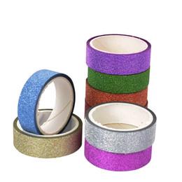 Envoltura de regalo adhesivo online-1 UNID 5 M Craft Glitter DIY Tap Tarjeta de Adhesivo de Papel Scrapbook Sticker Cellphone Envoltura de Regalos 2016
