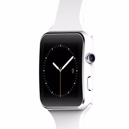 Wholesale Facebook Messaging - SmartWatch X6 Bluetooth Smartwatch Curved Screen With Alarm Clock Camera Support SIM TF Card Facebook Twitter Relogios Smart PK E6