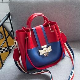 Wholesale Korean Hottest Women - HOT 2018 Newly lady's Fashon style Autumn and winter Women's new bucket bag Korean wild handbag large capacity Shoulder Messenger bag