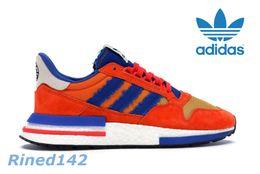 de3c081a9f8b Adidas ZX 500 RM Dragon Ball Z Fils Goku Orange Royal Rouge Femmes Hommes  Chaussures de course Sport Classique ZX500 Baskets Zapatos Chaussures