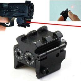 Wholesale laser guns pistol - Mini Adjustable Compact Tactical Red Dot Laser Sight Scope Fit For Pistol Gun 20mmr Rail
