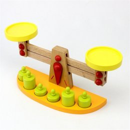Wholesale wooden balance - Bricks Montessori Teaching Tools Wooden Balance Baby Balance Game Tianping Wood Puzzle Children Toys Kindergarten Gift