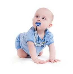 Wholesale Baby Pacifier Soother - 4 Pack Pacifier Holder Teether Clip Baby Soother Chain Boy Binky Infant Strap Pacifier Soother Nipple Strap Chain Clip Holder EEA61