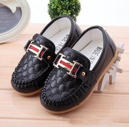 Wholesale leather loafers toddlers - 2018 Autumn Children Shoes Boys Girls Single Casual Shoes PU Leather Kids Loafer Sneakers Breathable Toddlers 1-5 Years Old Free Shipping