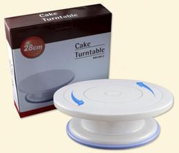 2019 подставки для стен 27cm торт плиты Turntable DIY инструмент для выпечки пластиковый торт поворотный стол вращающийся противоскользящий круглый торт подставка для украшения роторной пластины дешево подставки для стен