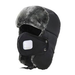 Wholesale Wholesale Winter Earmuffs - Thickening Mask Skiing Caps Winter Warmer Earmuffs Outdoor Sport Men Hiking Snowboard Snowmobile Windproof Hat