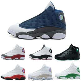 Meilleurs prix de chaussures de course en Ligne-2017 Nouveau Hommes Basketball Chaussures XIII 13 Bred Noir True Red Sports Chaussure De Course Athlétique Snakers Meilleur prix US8-13