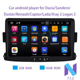 Wholesale 2g Mp4 Player - Android 7.1.2 8 Inch Car DVD android Player For Dacia Sandero Duster Renault Captur Lada Xray 2 Logan 2 RAM 2G WIFI GPS Navigation Radio