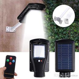 Wholesale Outdoor Solar Light Batteries - Solar Led street lamp outdoor Waterproof Motion Sensor 30W Led Road Light 3-Mode Setting 7200mAh Lithium Battery + ARM + remote control