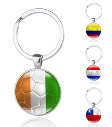 Wholesale Auto Glass Accessories - 2018 World Cup Souvenir Key Ring Offers Various National Flag Keychain Auto Accessories Can Be Customized Free DHL G541R
