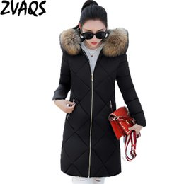 Wholesale Long Down Jacket Xs - Wholesale- ZVAQS Hot Casual Winter jacket women Long Thick Jackets Female Outwear High Quality Warm Women's Winter Coats Abrigo Mujer ST263