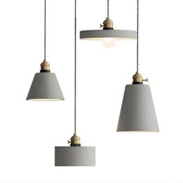 Art Designer Lampe de ciment American Grey Cafe suspension industrielle gris Abat-jour de ciment de LED E27 suspension luminaire ? partir de fabricateur