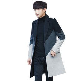 Wholesale Fresh Male - 2017 Winter New Fashion Trend Youth Style Small Fresh And Casual Wool Male Korean Version Of The Long Woolen Coat Thick Coat