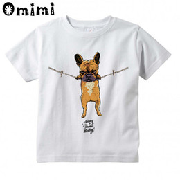 Wholesale Hanging Girls Neck - Boys Girls Hang in there Baby Printed T Shirt Kids Short Sleeve Tops Baby Children's Funny White T-Shirt,HKP2075