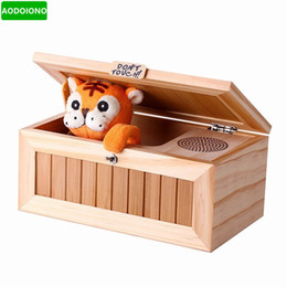 Wholesale Funny Desks - Don't Touch Cartoon Lovely Creative Tiger Useless Box Funny Box Toys for Kids Reduction Desk Decoration