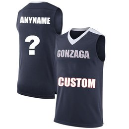 9569651c107 Men Customized Gonzaga Bulldogs College Jersey Custom made any name number  navy Blue White black STITCHED Basketball jerseys Cheap cheap customized ...