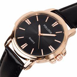 Wholesale watches for big wrists - Big dial mens fashion busines leather watch 2018 wholesale new men unisex simple design casual quartz wrist watches for men