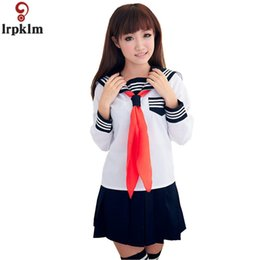 9bd3a6eb0 China Girls Summer School Uniforms Suit Two Piece Japanese Women s Sailor  Suit Sexy Mini Skirt-