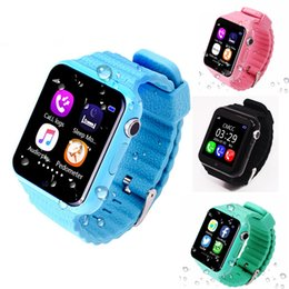 Wholesale pink facebook - V7K Waterproof Kids GPS smart watch kids Safe Anti-Lost Monitor Watches with camera facebook SOS Call Location Device Tracker