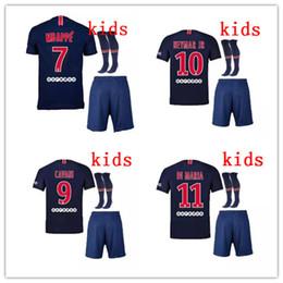 35cfe7b09 2018 2019 Paris 7 MBAPPE kids kit soccer Jerseys 18 19 psg VERRATTI CAVANI  DI MARIA MAILLOT DE FOOT survetement football SHIRT