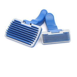 Wholesale automatic brush - Plastic Automatic Dog Cat Comb Anti Winding Hair Removal Brush Soft Easy To Clean Pet Gooming Tools Simple 4 75he B