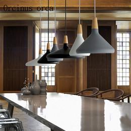 lámparas de estilo japonés Rebajas Lámpara nórdica de la moda del restaurante de la lámpara de la lámpara de la cabecera lámparas de la cocina estilo creativo minimalista japonés
