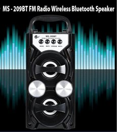 Wholesale High Output Speakers - MS-209BT Portable High Power Output FM Radio Wireless Stereo Bluetooth Speaker Supports Volume Control AUX FM TF Card 20*10.5*9cm