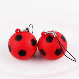 Wholesale mini worlds - 2018 Russia World Cup Squishy Football Keepsake Slow Rising Squishies Cute Mini Soccer Phone Straps Charms Squeeze Vent Toys 2 4sh Y