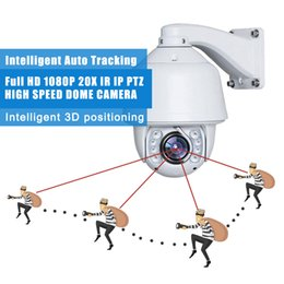 Wholesale Ip Optical - Full HD 1080P IP PTZ 2.0MP 20x optical zoom Auto tracking PTZ IP66 OUTDOOR waterproof Built-in wiper IR high speed dome Network