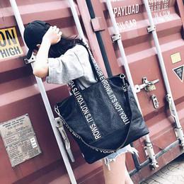 Argentina cuero de la PU de Corea bolsas de gran capacidad de la bolsa bolsos de diseño bolsa de viaje letra de la impresión del hombro del totalizador de compras monederos y bolsos cheap korean designer leather handbags Suministro