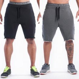Wholesale skinny sweat shorts men - Men Casual Shorts Athletics Jogger Dance Training Sport Gym Sweat Pants Trousers