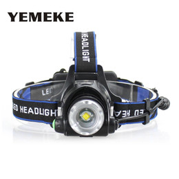 Wholesale super bright led strobe - Super Bright Headlamp 18650 Waterproof Head Torch T6 Rechargeable Led Head Lamp Zoom High-Low-Strobe Led Light For Hiking