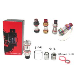 Wholesale fit bearing - TFV12 Cloud Beast Prince Tank 8ml Capacity 25.5mm Diameter Wide Bore Drip Tip Sub Ohm Atomizers Fit For G-priv 2 Free Shipping
